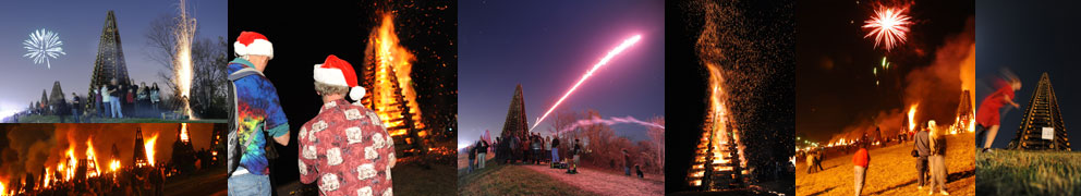 Fireworks & Christmas Bonfires in New Orleans Photo